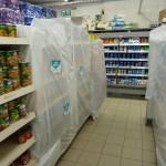 Abgedeckte Lebensmittel die während Pessach nicht verkauft werden