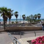 Erster Blick auf den Strand von Tel Aviv