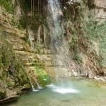 Der David-Wasserfall, das Ende des Tals