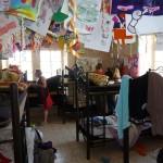 Der Schlafsaal im Hostel …