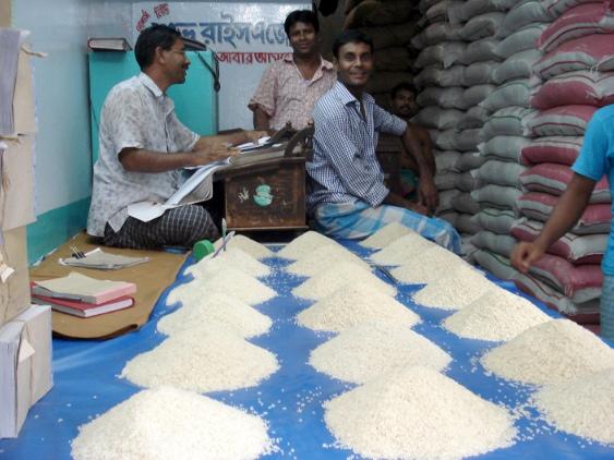 Reishändler in Old Dhaka