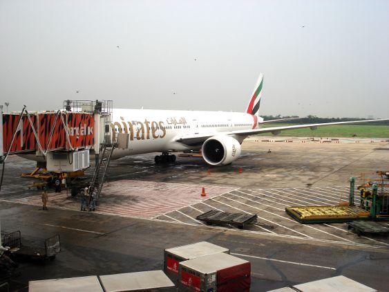 Unsere Emirates-Maschine (Boeing) von Dhaka nach Dubai