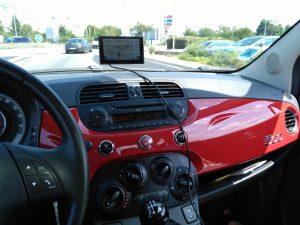 Unser Fiat 500 Mietwagen. Nett :-)