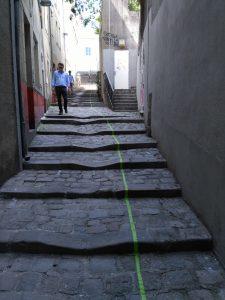 Die grüne Linie - ein vorgeschlagener Rundweg für Touristen - gute Idee!