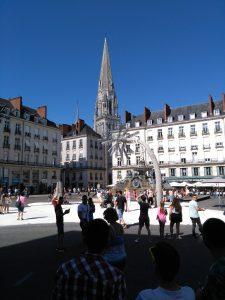 Platz in der Innenstadt von Nantes