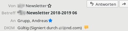 Mailinfos mit DKIM-Infos des Versenders